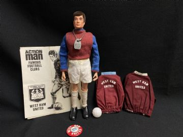 ACTION MAN - VINTAGE - WEST HAM FOOTBALLER (ref4)